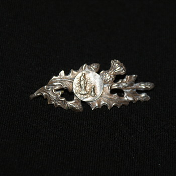 Small, Old, Scottish Religious Pin - Fine Jewelry