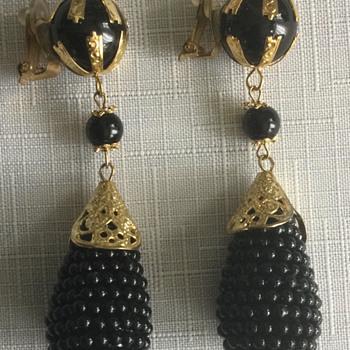 Large Vintage Earrings - Costume Jewelry