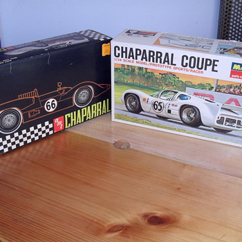 Chaparral model cars.