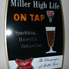 Two Miller High Life Pouring Glass Motion Signs