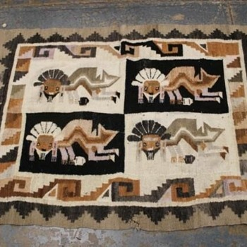 Native American Wool blanket/rug - Rugs and Textiles