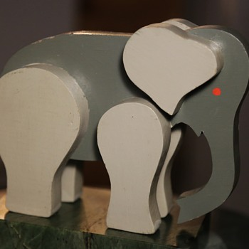 Midcentury Elephant?  very simple and elegant. - Animals