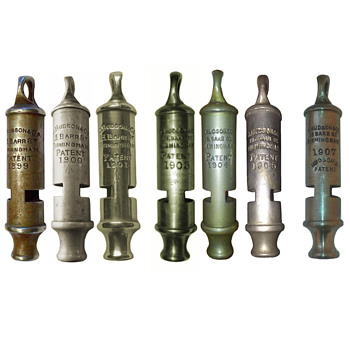 J.Hudson Whistles 1899-1918 - Tools and Hardware