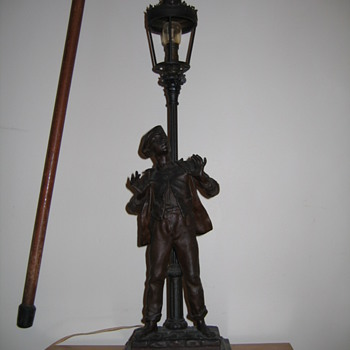 Figural Lamp, Spelter, Bronze - Help with indentification - Lamps