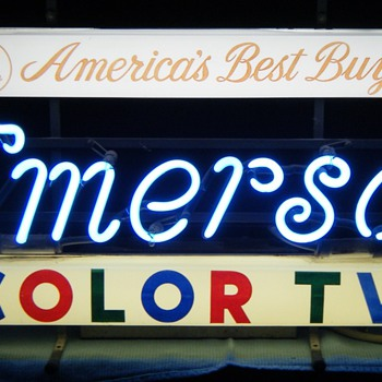 Emerson Color TV neon sign - Signs