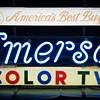 Emerson Color TV neon sign