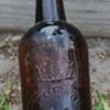 <<<J. Moore Old Bourbon Whiskey Bottle>>>