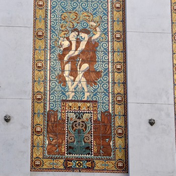Dufwin Theater - Downtown Oakland - Tile Mosaic - Pottery