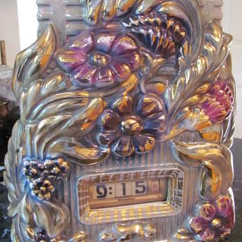 numechron porcelain clock lamp - Clocks