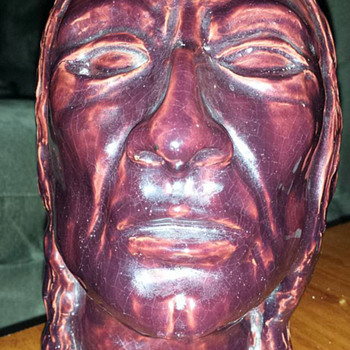 Head Bust of Native American - Pottery