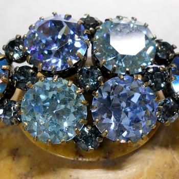 Aquamarine Azure Austrian Brooch - Fine Jewelry