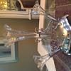 unknown 3 glass trumpet vase