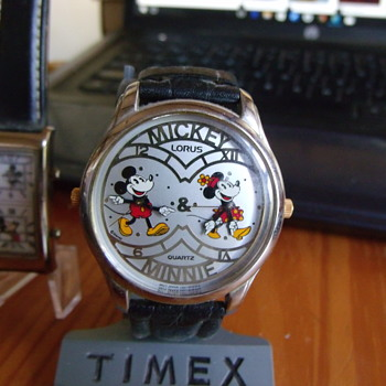 Dual Time Mickey Mouse Wrist Watches - Wristwatches
