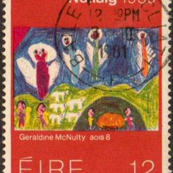 "1980 - Ireland ""Christmas"" Postage Stamps - Stamps"