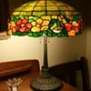 Wilkinson leaded glass floral lamp
