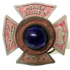 ANTIQUE VOLUNTEER FIRE DEPT MALTESE CROSS BUMPER BLUE LIGHT
