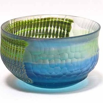 Sake cup by Takeshi Sano - Art Glass