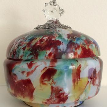 Welz lidded bowl - Art Glass