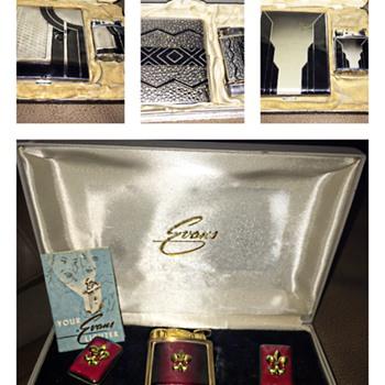 Various Vintage Evans Lighters ca 1940-1950's - Tobacciana