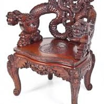 dragon chair bought at yard sale