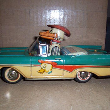 Vintage Friction Duck In a Car Toy- Quack!