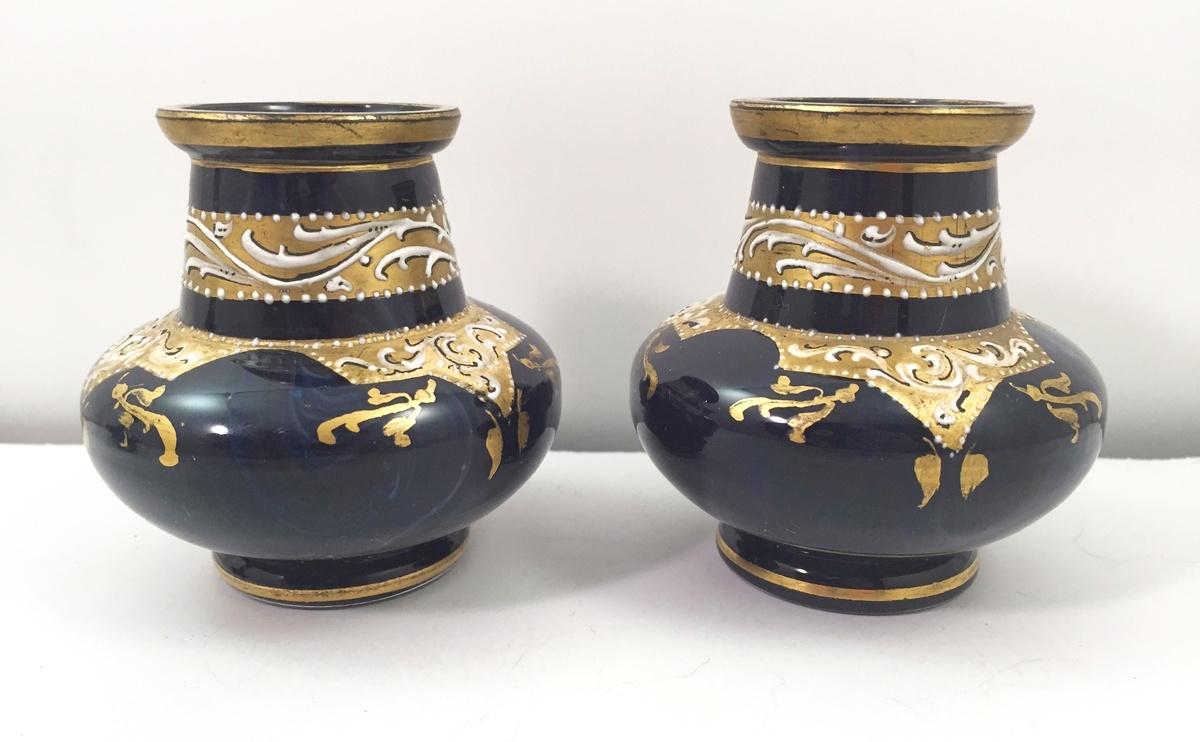 Rare trio of loetz lapis lazuli miniature vases ca 1893 rare trio of loetz lapis lazuli miniature vases ca 1893 collectors weekly reviewsmspy