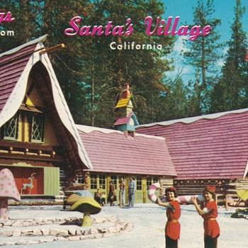 Vintage Postcards Santa's Village Skyforest California   - Christmas