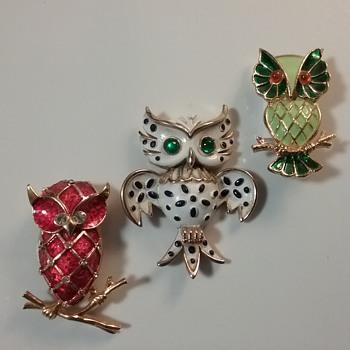Bright '60s owls - Animals