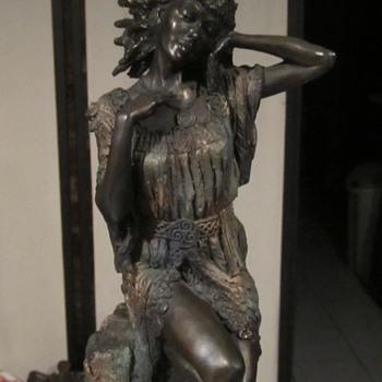 "Genesis Fine Arts of Ireland Bronze Figurine. 2002 E/5000 14.5"" - Figurines"