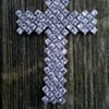 Fully Articulated Sterling & CZ Cross, Thrift Shop Find 2 Euro ($2.10)