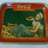 """1940 """"Sailor Girl"""" Coca-Cola Tray"""