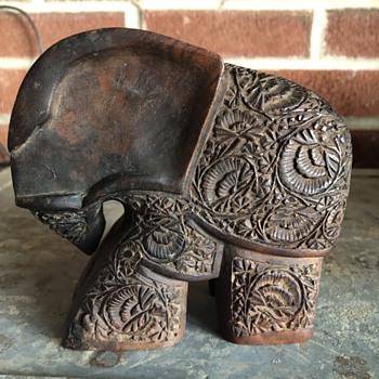 Hard wood carved Elephant - Animals