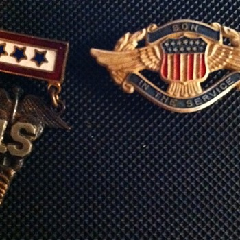 Son In The Service Pins - Military and Wartime