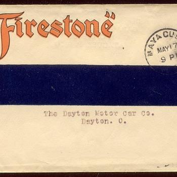 Firestone: from Mayaguez Puerto Rico to Dayton Ohio  May 17, 1915 - Advertising