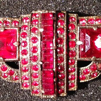 Red Brooch - Costume Jewelry