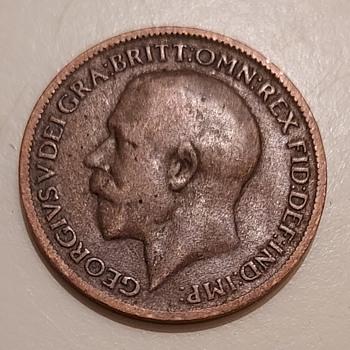 1920 British farthing - World Coins