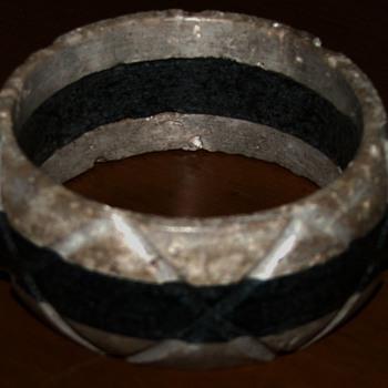Wide Stone Bangle Bracelet  - Costume Jewelry