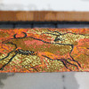 1960s Vintage Shag Pile Rug - Bison Buffalo Cave Painting