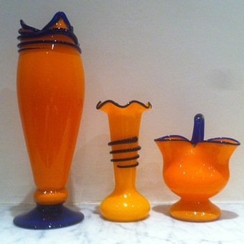 Tango with applied fused glass - Art Glass