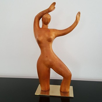 RARE ART DECO DANCING NUDE LASZLO HOENIG SCULPTURE - Art Deco