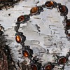 Baltic amber and silver beetle bracelet