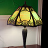 Unidentified Slag glass table lamp