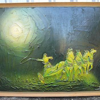 Painting of the sun god, Helios - Fine Art