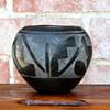Black on Black Ceramic Bowl
