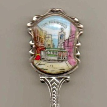"Souvenir Spoon - ""San Francisco"" - Advertising"