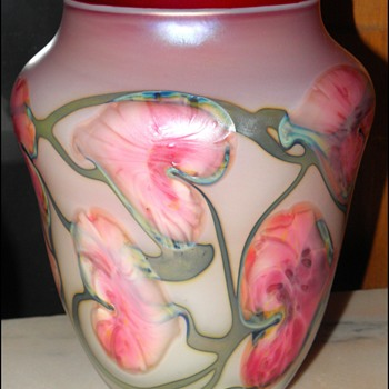 Large John Lotton Vase - Art Glass