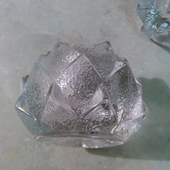 ORREFORS CRYSTAL ARTICHOKES VOTIVES - Art Glass