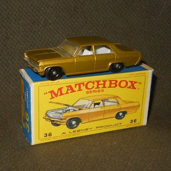 Much More Motoring Matchbox Monday MB36 Opel Diplomat 1966-1968 - Model Cars