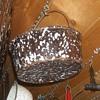 Graniteware/Spatterware Bucket Colander/Strainer
