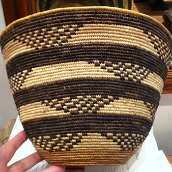 My lovely Brown and tan Basket  - Native American